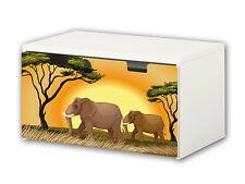 """""""Tierwelt Afrika"""" Möbelsticker / Aufkleber für Banktruhe STUVA von IKEA - BT25"""