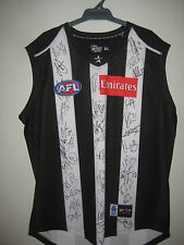 COLLINGWOOD 2013 TEAM SIGNED JERSEY UNFRAMED + PHOTO PROOF &  C.O.A