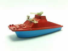 1976 Corgi Juniors #53 Fire Launch Diecast & Plastic Rescue Boat Made in England