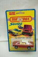 VINTAGE MATCHBOX CAR SUPERFAST MERCEDES NO 6 LESNEY ENGLAND 1976 MOC MIP TOY