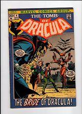 Marvel Tomb Of Dracula #4 Colan Art 1972 Vg Vintage Comic