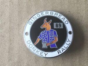 Gingerbread Donkey Motorcycle Rally - Enamel Pin Badge - 1989 - MCC - Liverpool