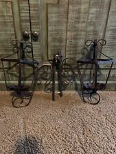 Southern Living Natchez Street Lantern Candle/ Flower Sconce Iron Wall Mount