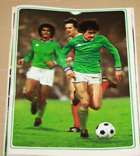 FOOTBALL POSTER ROCHETEAU ASSE ST ETIENNE COUPE D'EUROPE CLUBS CHAMPIONS 1975-76