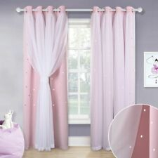 Double Shading Dreamy Blackout Curtain Drape For Girl Baby Living Room Wedding