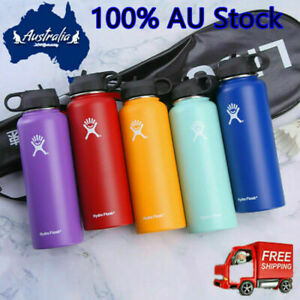 AU 32oz 40oz Hydro Flask Insulated Mouth Lid Straw Bottle Stainless Water Cup