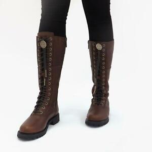 Harley Davidson WALFIELD Ladies Womens Winter Biker Leather Tall Boots Rust
