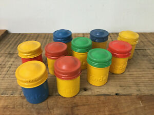 10 Vintage Kodak Colorful Embossed Metal Film Canisters Empty 35MM Containers