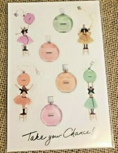 Chanel Chance Parfums Perfume Gift Sticker Sheet of 8 Stickers NEW Free Shipping