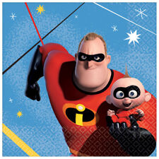 INCREDIBLES 2 SMALL NAPKINS (16) ~ Birthday Party Supplies Serviettes Beverage