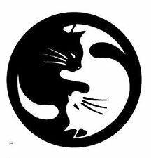 Cats Vinyl Car Sticker Decal Funny Graphics Yin Yang Pets Art Lover Stickers