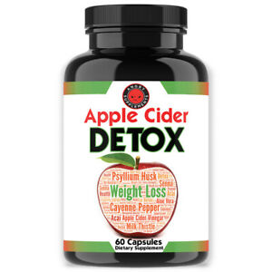 Angry Supplements Apple Cider Vinegar Detox, Weight Loss, Detox & Cleanser 1Pk