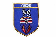 YUKON  Blue Shield CANADA Territory Flag IRON-ON PATCH CREST BADGE