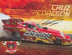 2007 Cruz Pedregon signed Advance Auto Parts Chevy Monte Carlo FC NHRA postcard