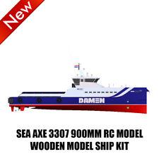 900mm Holz RC Schlachtschiff SEA AX 3307 Modell Schiffssatz ferngesteuert Schiff