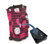Hand Luggage Collapse Case Trolley Wheeled Cabin Bag Baggage Ryanair Easyjet 55x Zinnia
