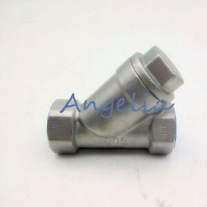 "2"" DN50 BSP 304 Stainless Steel Mesh Strainer Booster Pump Inline Y Filter"