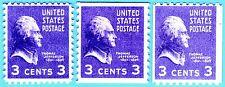 US STAMPS  Sc# 807 Sc#842  Sc#851 3c- JEFFERSON 1938-39 MINT