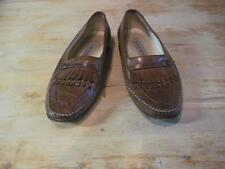 Bruno Magli Leather Loafers Kilt Cognac Hand Made Italy Size 8.5 M