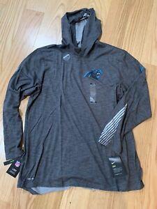 Nike NFL Carolina Panthers Tee Hoodie Helmet Long Sleeve Sz L AR8478-071 BNwT