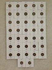 (JC) 37 pcs Parliament + Bunga Raya 5 sen Coin Full Set from year 1967 to 2011