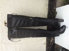 NEW DUNE SIBYL BLOCK HEEL OVER THE KNEE LONG THIGH BOOTS PULL ON STRETCH  5UK/38