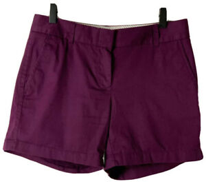 J. Crew Chino Shorts NWOT Women's Purple With Pockets 100% Cotton Size 2 Small