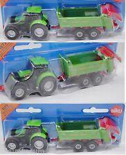 Siku Super 1673 Deutz-Fahr Agrotron 265 Traktor mit Strautmann Universalstreuer