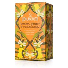 Pukka Organic Herbal 20 Tea Sachets Teabags - Lemon, Ginger & Manuka Honey