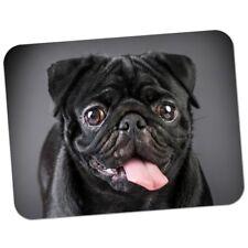 MOUSE MAT 87 Happy Black Pug Premium Quality Thick Rubber Mouse Mat Pad Soft