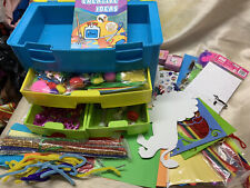 Plastic Drawer Box With Lots Of Craft Making Items