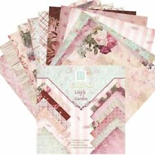 Scrapbooking Paper Pads 24 Background Sheets Origami Art Card Diy Garden Craft