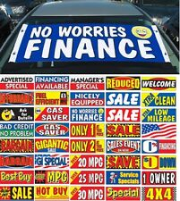 Car Dealer Windshield Signs, Banners, set of 10 ( Replacing Window Stickers)