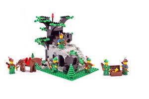 Lego Castle Forestmen Set 6066 Camouflaged Outpost 100% complete vintage 1987