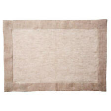 Tessitura Pardi Italy 100% Linen Lustro Placemats, Set of Four – Natural – New