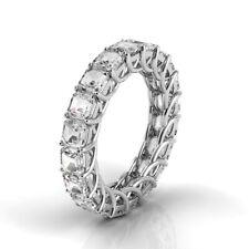 3.5ctw Asscher Diamond Trellis Set Eternity Band 14K White Gold (F-G/Vs2)