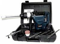 """1-1/2"""" HAMMER DRILL 1.5 HP + 11 PC SDS DRILL BITS ELECTRIC DEMOLITION POWER TOOL"""