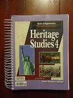 Heritage Studies 4 Home Teacher Edition (1997, PB,A3)  NEW!!