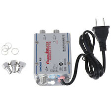 Standard AC 20dB Signal Booster Amplifier Cable TV/UHF/VHF/FM Antenna Splitte CO