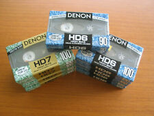 DENON TAPES HD7 100, HD6 100, HD6 90 (NINE TOTAL)
