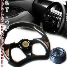 Mustang Type-R 320Mm Battle Style Racing Steering Wheel+ Hub Adapter Black/Blk