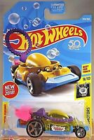 2018 Hot Wheels #293 EXPERIMOTORS 9/10 BUBBLE MATIC Transparent Yellow w/5 Spoke