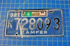 Vintage Blue Black Oregon Camper Trailer Glamper License Plate Free US Ship
