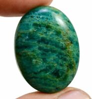 52ct Amazing Natural Green Amazonite Oval Cabochon Loose Gemstone on ebay