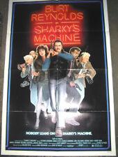 SHARKY'S MACHINE ORIGINAL MINT FOLDED 27X41 MOVIE POSTER 1981 BURT REYNOLDS