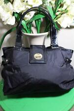 KATE SPADE BEXLEY nylon black PATENT LEATHER tote shoulder bag (P800)
