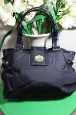 KATE SPADE BEXLEY nylon black PATENT LEATHER tote shoulder bag (P800)