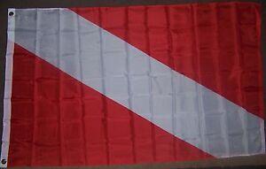 NEW 3x5ft DIVER DOWN SCUBA DIVING DIVE MARKER best quality satin FLAG usa seller