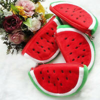 Lovely Watermelon Coin Bag Purse Wallet Pencil Case Plush Pen Bag For Kids Gifts