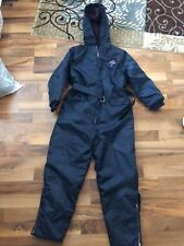 Vintage Sno Mo Beeler by Wonderalls Child Size 12 Snowmobile SuitNavy Blue